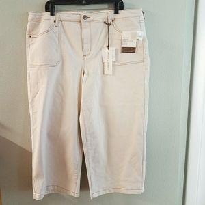 Vintage America High Rise Wide Leg Crop Jean NWT